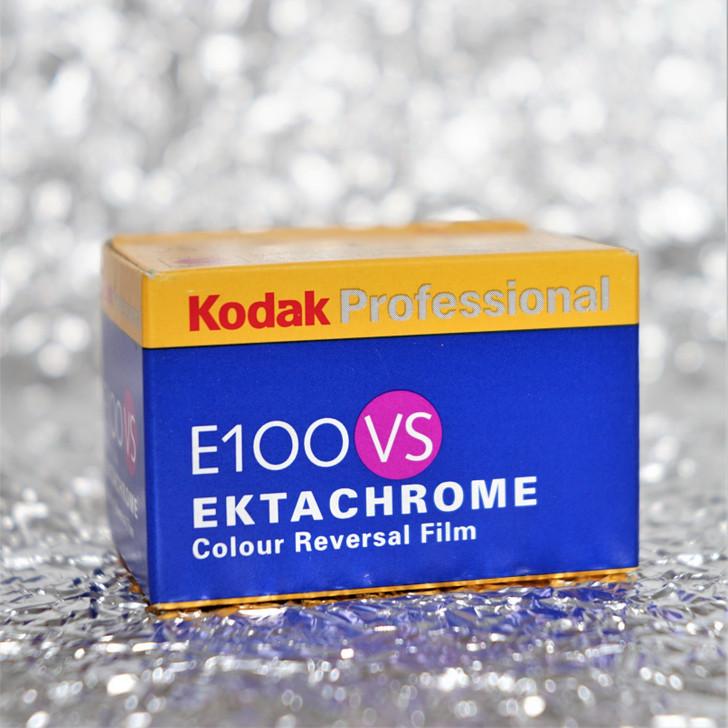 Kodak E100VS 35mm film (expired)