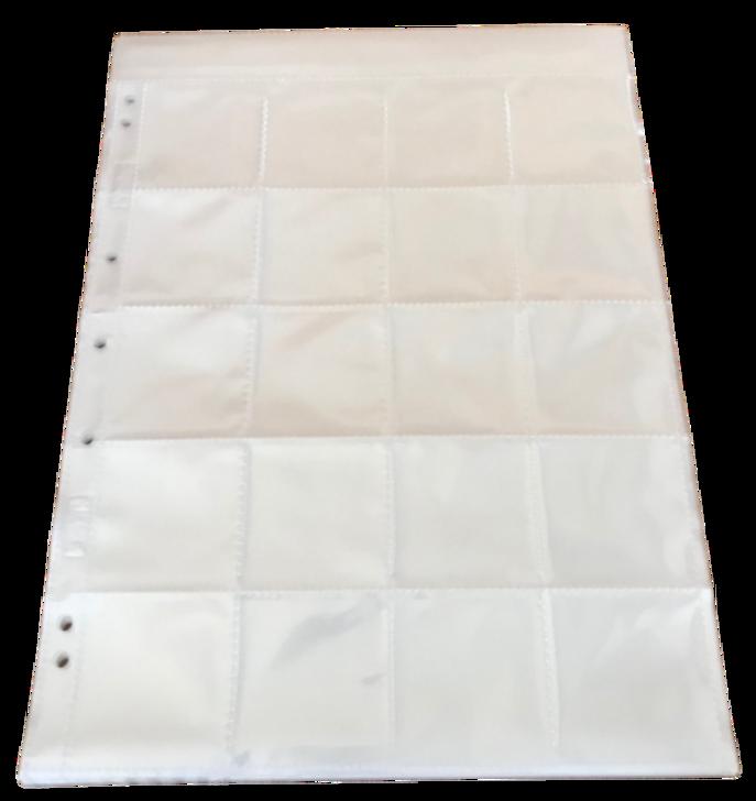 Albox Acid-Free Slide Pockets/Sleeves - 20 slides