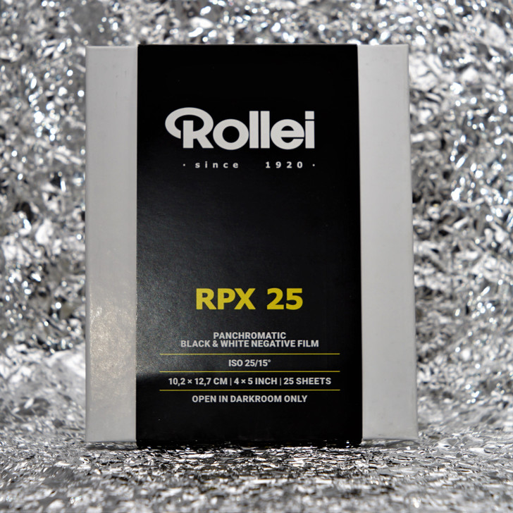Rollei RPX 25 4x5 sheet film (25 sheets)