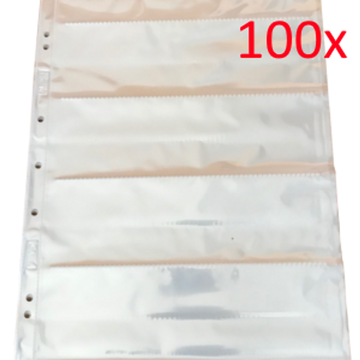 Albox Acid-Free 120 medium-format Negative Pockets/Sleeves - 4 Strips (100sheets)