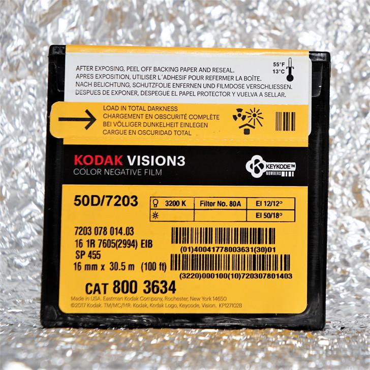 Kodak Vision3 50D / 7203 Vision3 16mm 100ft (30m) film