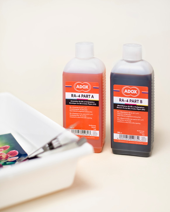 ADOX RA-4 Kit (CD And BX for 2500 ml each) to mix 2500 ml