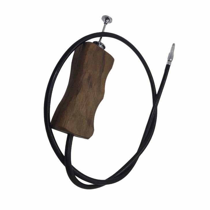 Wooden handle shutter cable release (60cm)