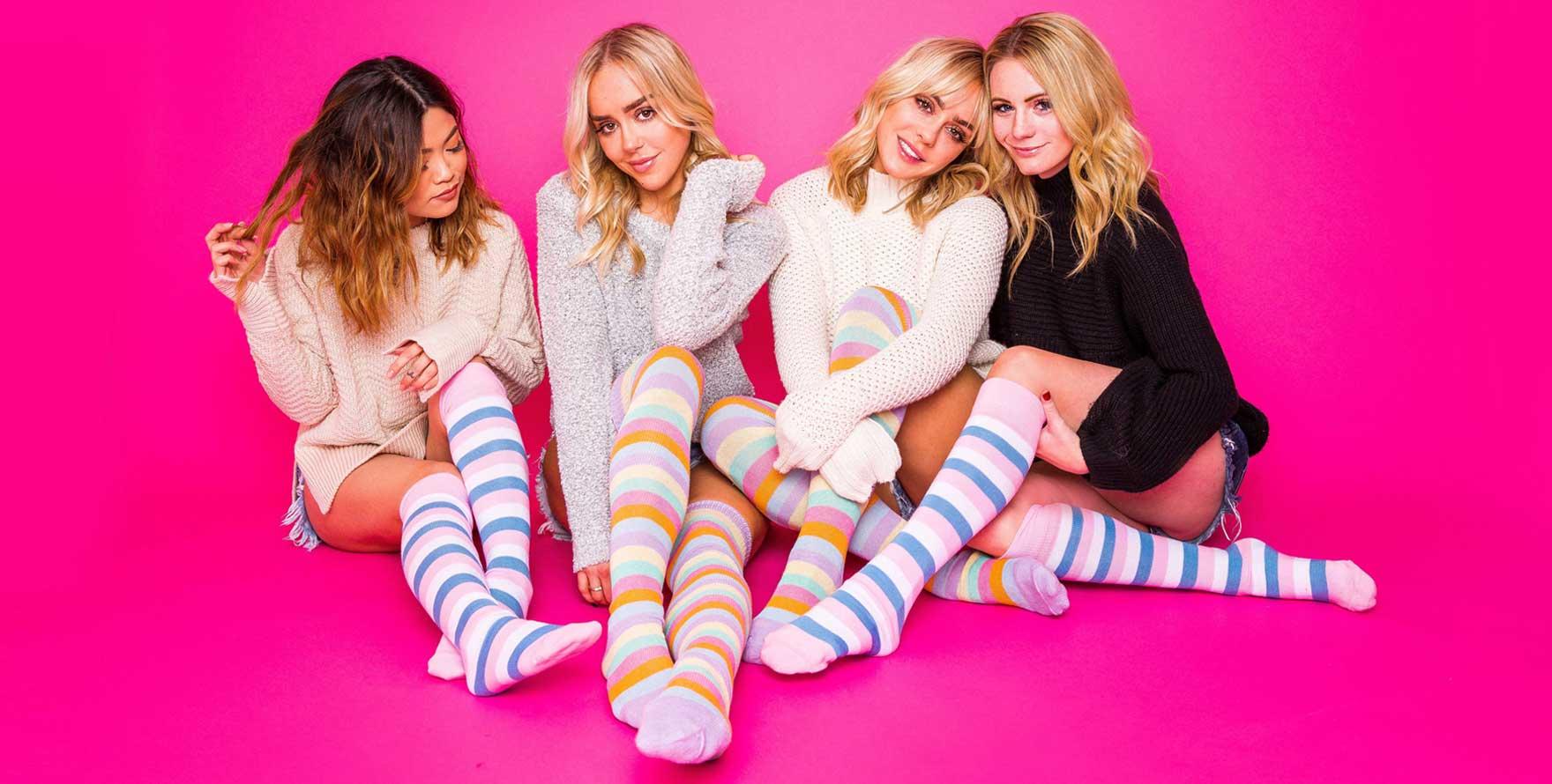 multi colored knee socks