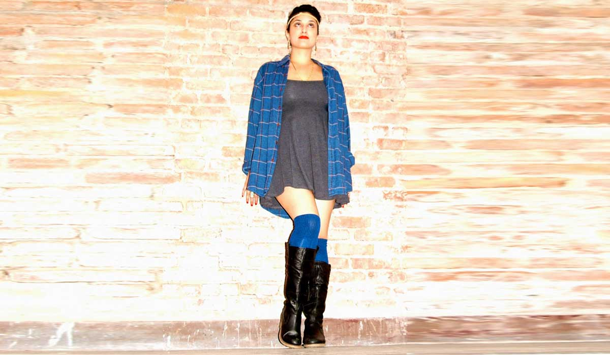 royal blue thigh highs (Made in USA)
