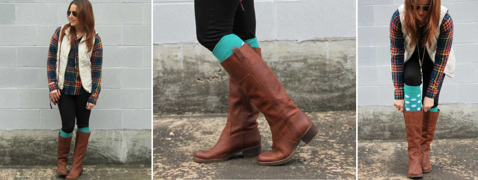 teal socks (Made in USA)