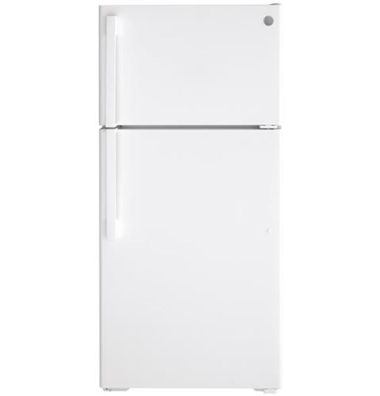 Ge 15 6 Cu Ft Top Freezer Refrigerator Gts16dtnrww Manteo Furniture Appliance