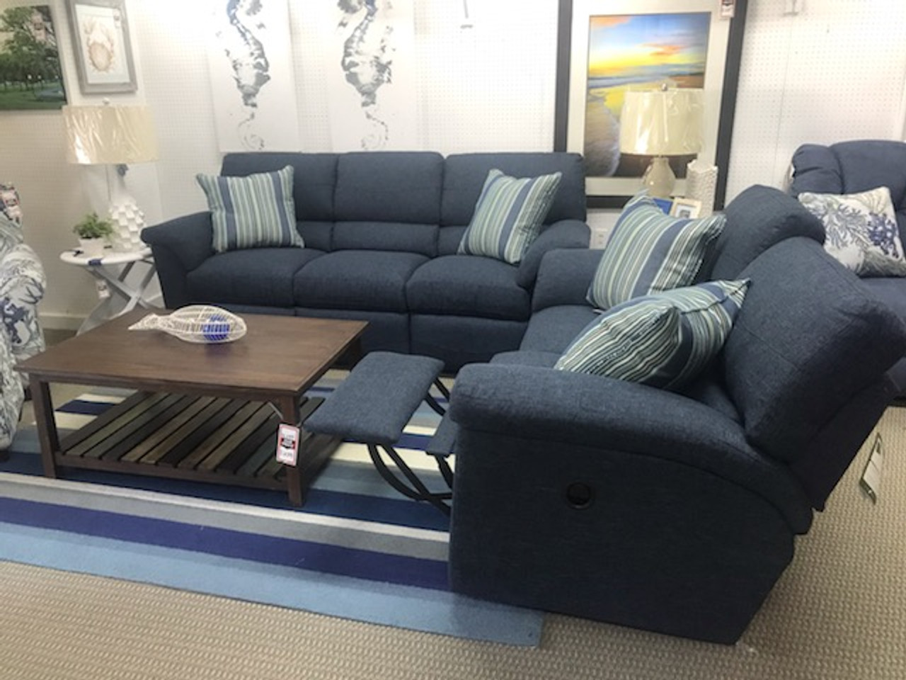 Swell Reese Reclining Blue Sofa Andrewgaddart Wooden Chair Designs For Living Room Andrewgaddartcom