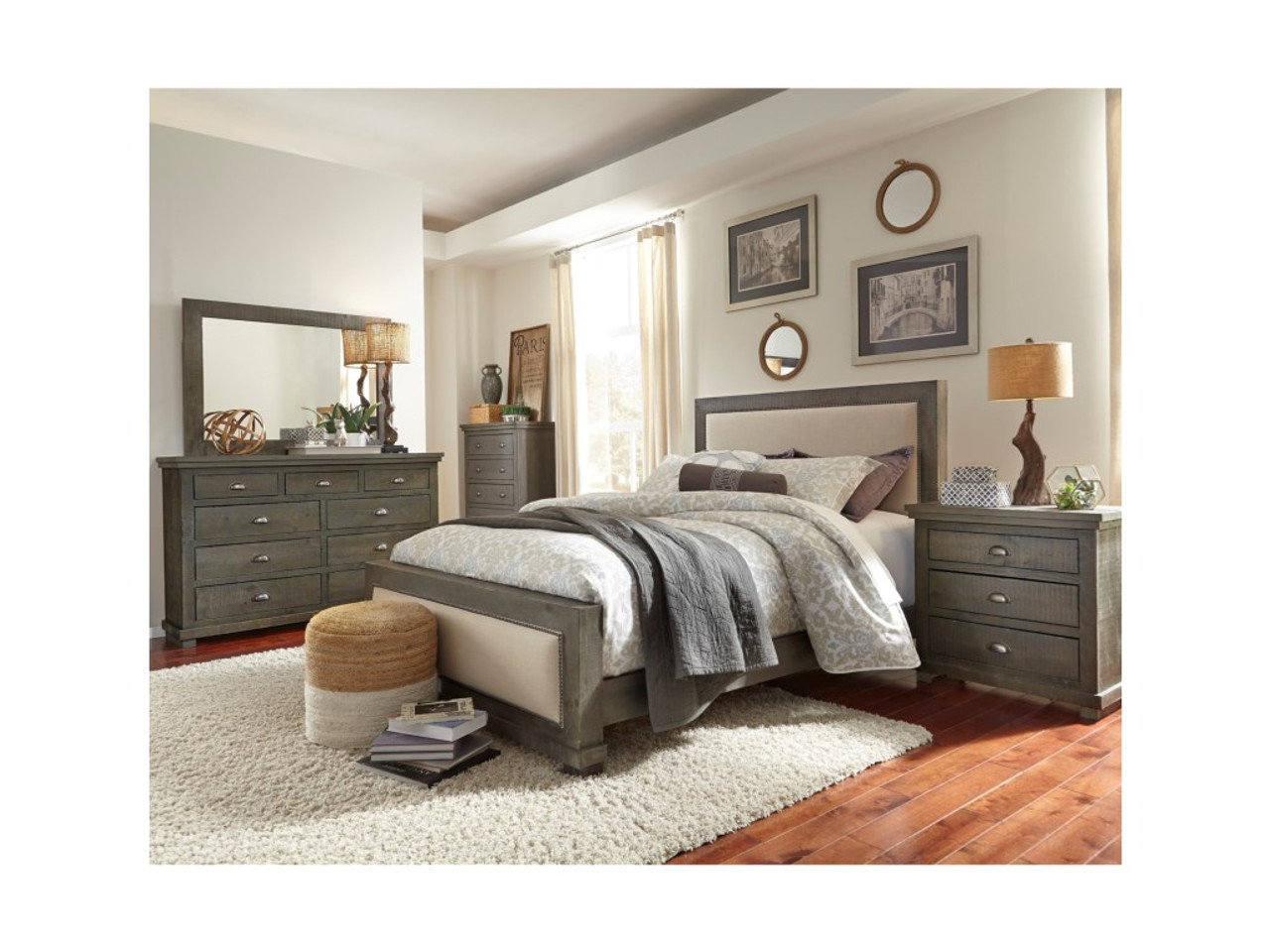 P600 Willow Distressed Dark Gray Nightstand Manteo Furniture Appliance