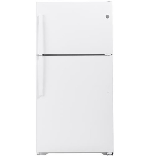 GE® 21.9 Cu. Ft. ENERGY STAR® Top-Freezer Refrigerator GIE22JTNRWW