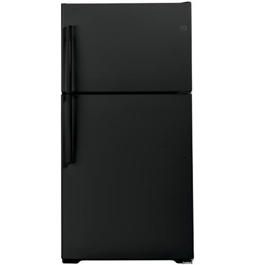 GE® 21.9 Cu. Ft. ENERGY STAR® Top-Freezer Refrigerator GIE22JTNRBB