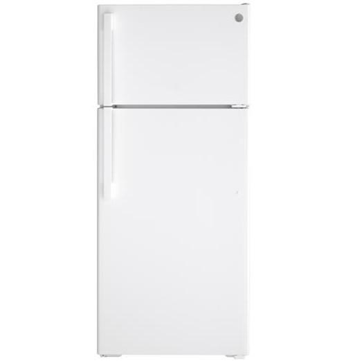 GE® ENERGY STAR® 17.5 Cu. Ft. Top-Freezer Refrigerator GIE18GTNRWW