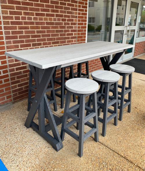 T202 Light Grey/Slate Grey Harvest Pub Table  Set