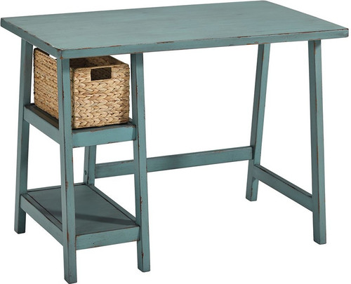 Mirimyn Desk - Teal w/ Basket