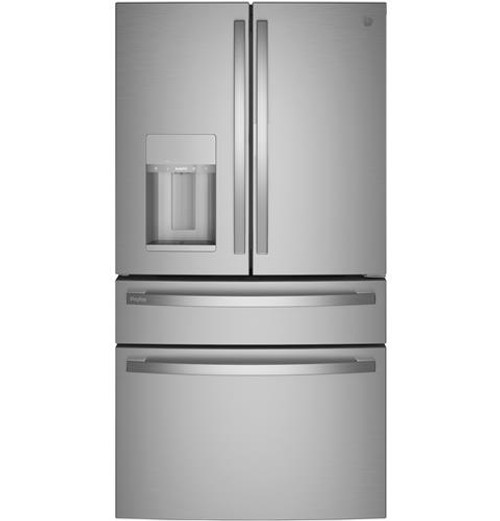 GE Profile™ 27.9 Cu. Ft. Smart Fingerprint Resistant 4-Door French-Door Refrigerator with Door In Door (PVD28BYNFS)