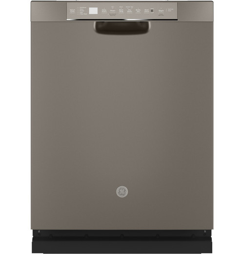 GE® Front Control with Stainless Steel Interior Dishwasher with Sanitize Cycle & Dry Boost GDF645SMNES