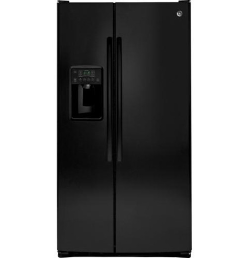 GSS25GGHBB GE® 25.4 Cu. Ft. Side-By-Side Refrigerator