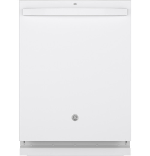 GE® Top Control with Stainless Steel Interior Dishwasher with Sanitize Cycle & Dry Boost with Fan Assist GDT665SGNWW