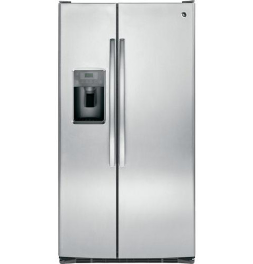 GSS25GSHSS GE® 25.4 Cu. Ft. Side-By-Side Refrigerator Stainless Steel