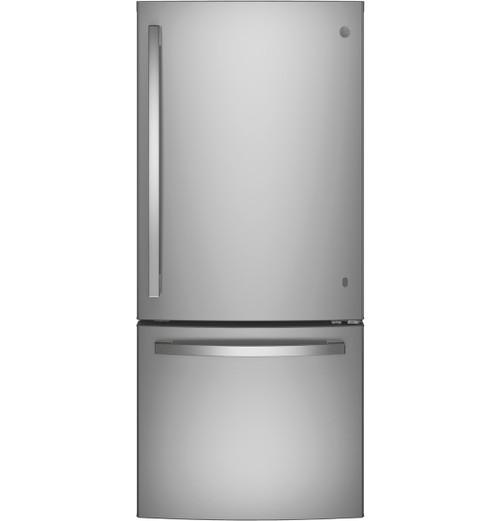 GE® ENERGY STAR® 21.0 Cu. Ft. Bottom-Freezer Refrigerator GDE21ESKSS