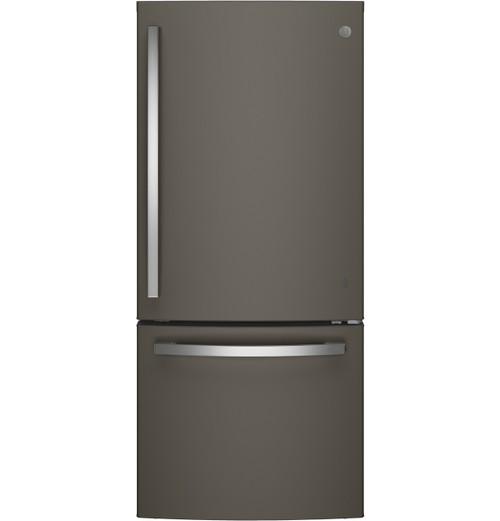 GE® ENERGY STAR® 21.0 Cu. Ft. Bottom-Freezer Refrigerator GDE21EMKES