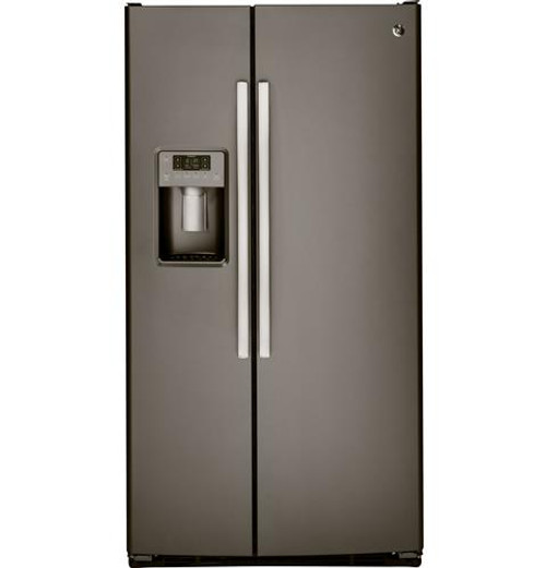 GSS25GMHES GE® 25.4 Cu. Ft. Side-By-Side Refrigerator Slate