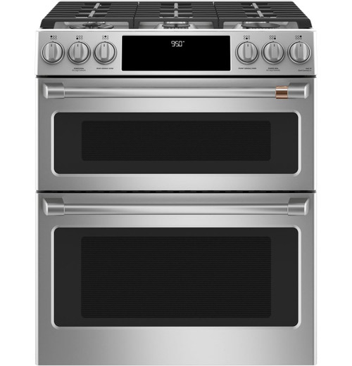 "Café™ 30"" Smart Slide-In, Front-Control, Dual-Fuel, Double-Oven Range with Convection C2S950P2MS1"