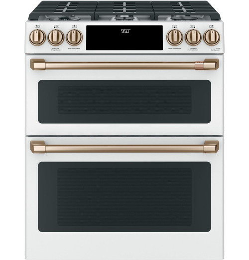"Café™ 30"" Smart Slide-In, Front-Control, Dual-Fuel, Double-Oven Range with Convection C2S950P4MW2"