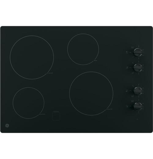 """GE® 30"""" Built-In Knob Control Electric Cooktop JP3030DJBB"""
