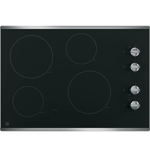 "GE® 30"" Built-In Knob Control Electric Cooktop JP3030SJSS"