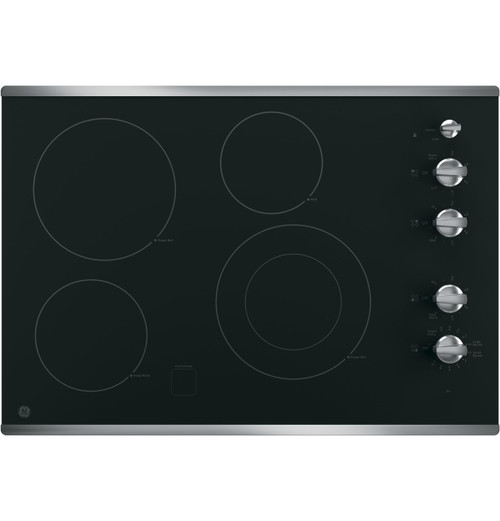 "GE® 30"" Built-In Knob Control Electric Cooktop JP3530SJSS"