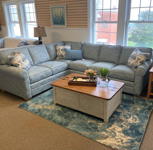 728 Bedford Sectional 322-63 Blue