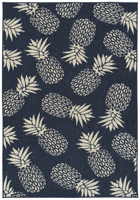 Amalie AML16-22 Navy Pineapple Rug
