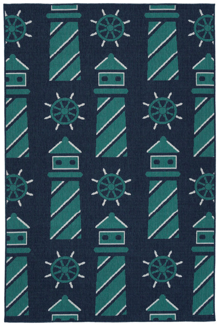 Cabo CAB15-17 Blue Lighthouse Rug