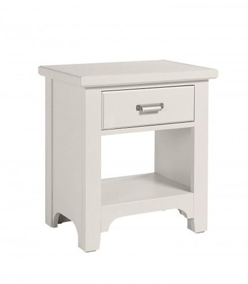 744 Bungalow Lattice White One Drawer Nightstand