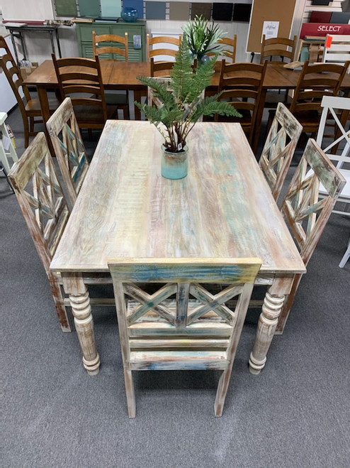 Capris 379 Dining Set Recycled Finish
