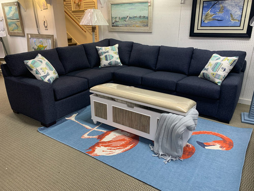 Sugarshack Denim Sectional with Queen Sleeper - Revolution!