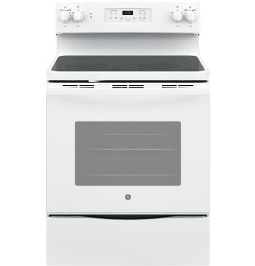 "JB645DKWW GE® 30"" Free-Standing Electric Range White"