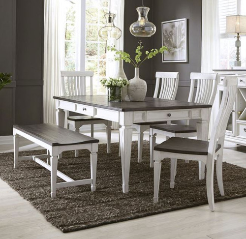 Allyson Park Dining Set with Bench