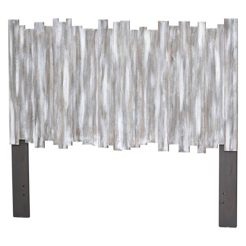 Grey Picket Fence Headboard