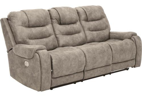 Yacolt Fog Power Reclining Sofa with Adj Headrest