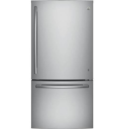 GE® Series ENERGY STAR® 24.9 Cu. Ft. Bottom-Freezer Drawer Refrigerator GDE25ESKSS