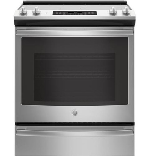 "GE® 30"" Slide-In Electric Convection Range JS760SLSS"