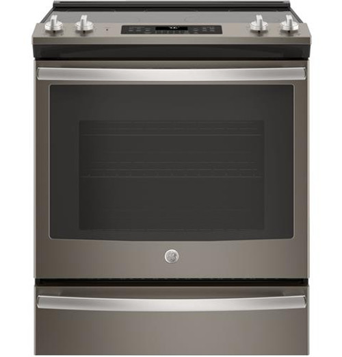 "GE® 30"" Slide-In Electric Convection Range Slate JS760ELES"