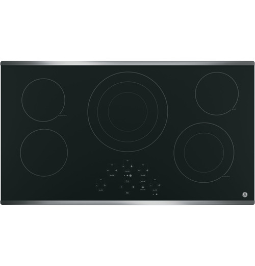 "GE® 36"" Built-In Touch Control Electric Cooktop - JP5036SJSS"