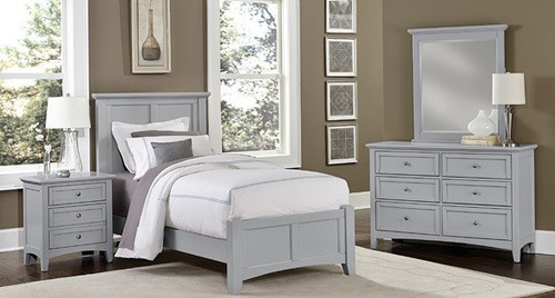 Bonanza Gray Twin Bed