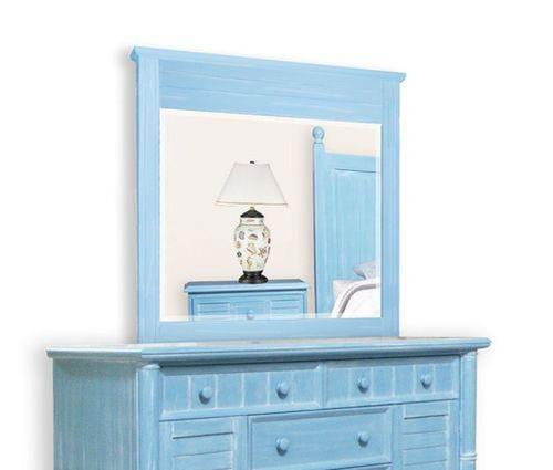 Beachfront Ocean Blue Mirror
