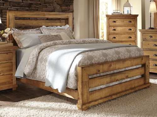 P608 Willow - Distressed Pine Bed