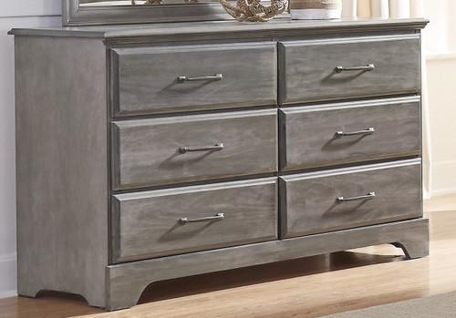 Vintage Grey Double Dresser