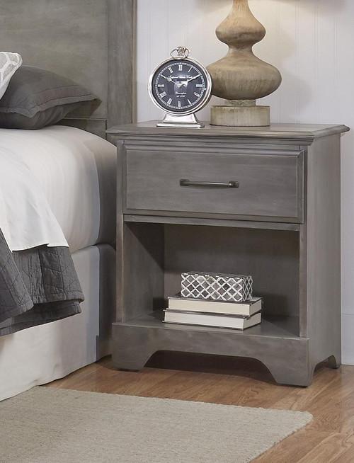Vintage Grey Nightstand
